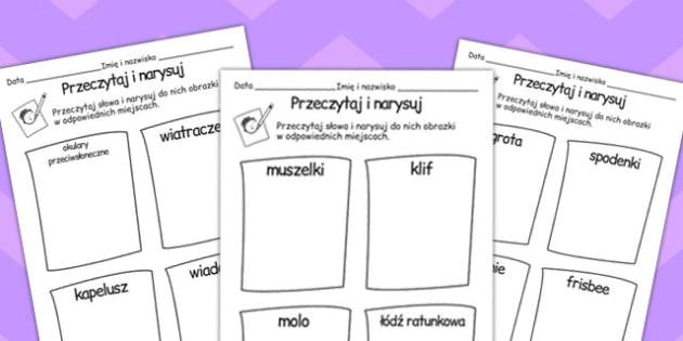 Napisz i narysuj tematyka morska po polsku - nauczyciel , Polish