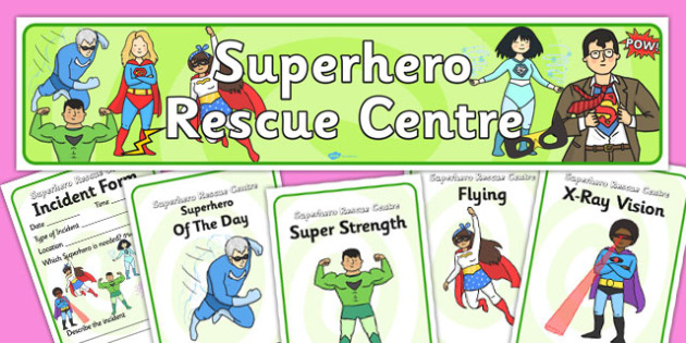 Superhero Rescue Centre Role Play Pack-superhero rescue centre, role play, role play pack, role play material, superhero role play, activities