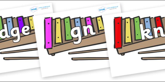 Silent Letters on Glockenspiels - Silent Letters, silent letter, letter blend, consonant, consonants, digraph, trigraph, A-Z letters, literacy, alphabet, letters, alternative sounds