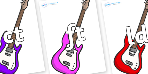 Final Letter Blends on Guitar - Final Letters, final letter, letter blend, letter blends, consonant, consonants, digraph, trigraph, literacy, alphabet, letters, foundation stage literacy