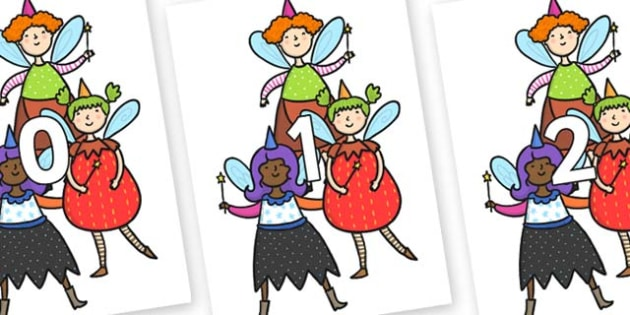 Numbers 0-31 on Good Fairies - 0-31, foundation stage numeracy, Number recognition, Number flashcards, counting, number frieze, Display numbers, number posters