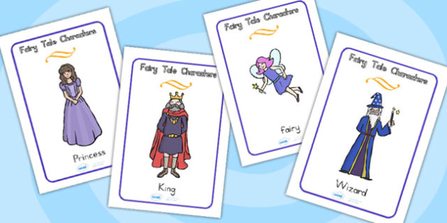 Fairy Tale Characters Display Posters - traditional tales, fairy