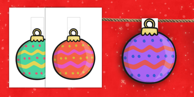 Christmas Bauble Bunting - christmas, bauble, bunting, display