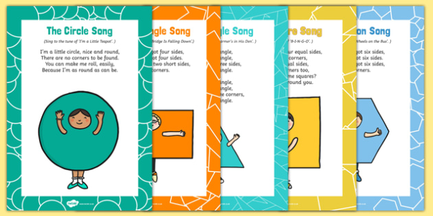 2D Shapes Songs and Rhymes Resource Pack