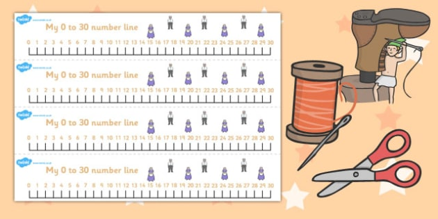 The Elves and the Shoemaker Number Lines 0-30 - number lines