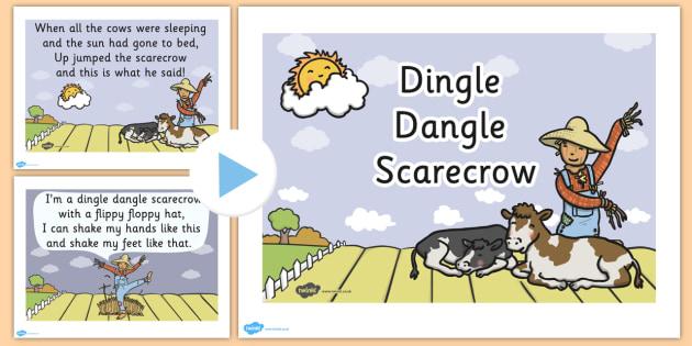 Dingle Dangle Scarecrow Nursery Rhyme PowerPoint - scarecrow
