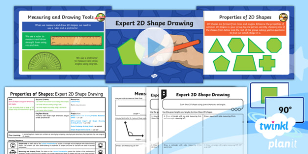 PlanIt Y6 Properties of Shapes Lesson Pack 2D Shape Drawing (1) - Properties of Shape, 2D Shape