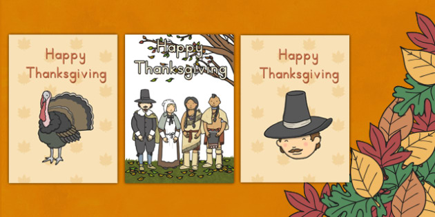 Thanksgiving Greetings Cards USA - gift, activity, activities