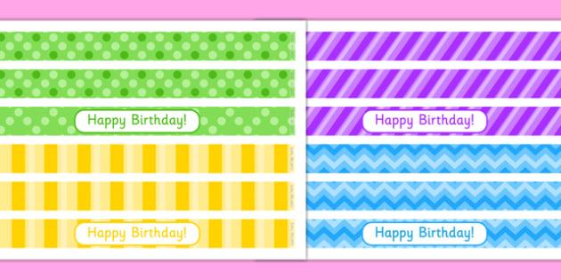 8th Birthday Party Cake Ribbon - 8th birthday party, 8th birthday, birthday party, cake ribbon