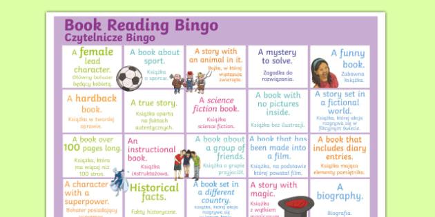 Book Reading Bingo A3 Display Poster Polish Translation-Polish-translation
