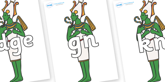 Silent Letters on Egyptian Icons - Silent Letters, silent letter, letter blend, consonant, consonants, digraph, trigraph, A-Z letters, literacy, alphabet, letters, alternative sounds