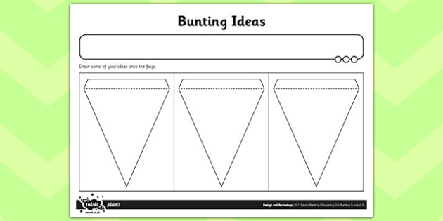 Activity Sheet Bunting Ideas - activity sheet, bunting, ideas, worksheet
