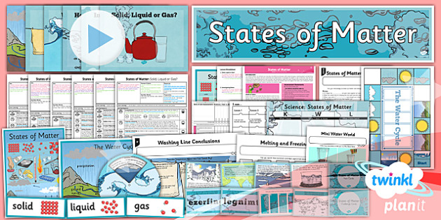 Science: States of Matter Year 4 Unit Pack