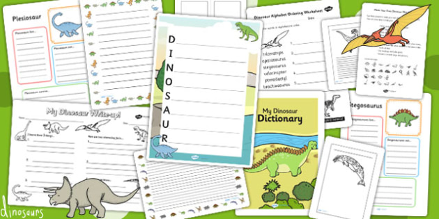 Dinosaur Themed Writing Activity Pack - write, writing, literacy