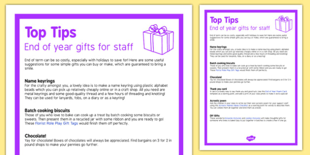 End of Year Gifts for Staff Top Tips