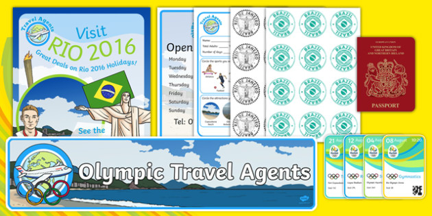 Rio 2016 Olympics Travel Agents Role Play Pack - rio 2016 olympics, travel agents, role play, pack