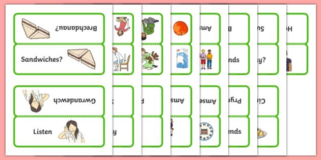 Word Cards for Bocs or Bag Helpwr Heddiw Year 1 and 2 - bocs bendigedig, welsh, cymraeg, Word Cards, Welsh Second Language, Helpwr Heddiw
