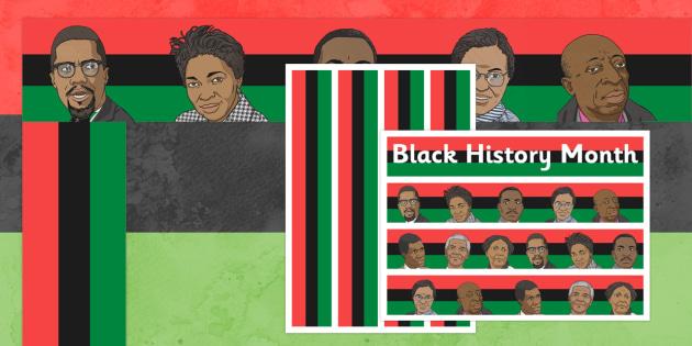 Black History Month Display Borders - display borders, black, history