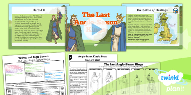 History: Vikings and Anglo-Saxons: The Last Anglo-Saxon Kings LKS2 Lesson Pack 6