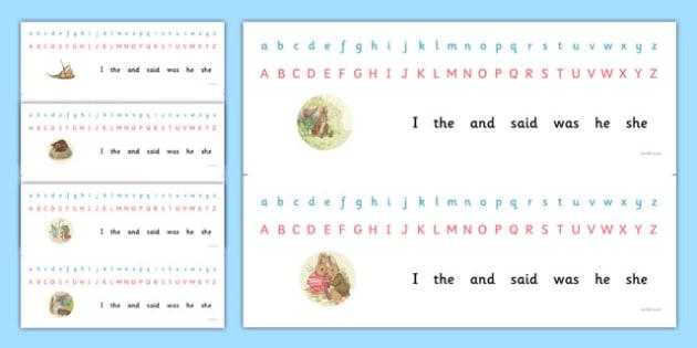 Beatrix Potter - The Tale of Benjamin Bunny Alphabet Strips - beatrix potter, benjamin bunny