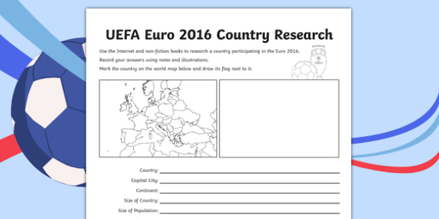 Football UEFA Euro 2016 World Cup Country Fact File - football, uefa, euro 2016, world cup, country, fact file