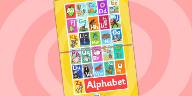 Alphabet Display A3 Poster -  Alphabet display, alphabet poster, alphabet A3 poster, alphabet A3 display, alphabet display poster, alphabet sign