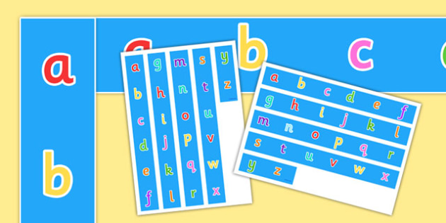 Alphabet Display Borders - alphabet, A-Z, literacy, display borders, borders, classroom borders