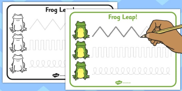 Frog Leap Pencil Control Sheet - frog, leap, pencil control sheet