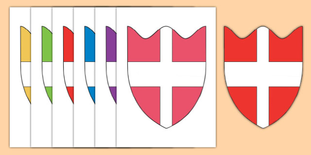 House Shields Cut Outs - house shields, house, shield, cut outs, activity