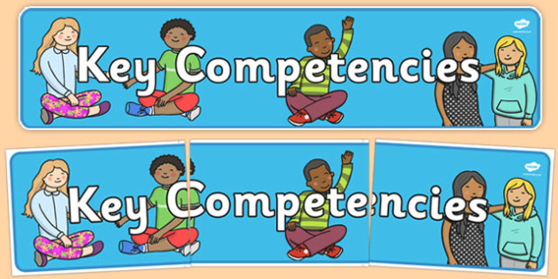 New Zealand Key Competencies Display Banner - new zealand, nz, key, competencies, display