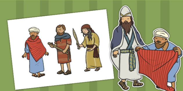 The Good Samaritan Stick Puppets - the good samaritan, samaritan, help, helping, story, story book, story sequencing, story resources, stick puppet, jewish, thieves, bible story, Jesus, priest, Levite, kind, good samartian