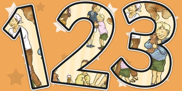 Themed Display Numbers to Support Teaching on Dogger - number, displays, display, poster