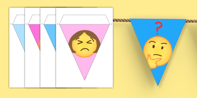 Emojis Display Bunting - , moji