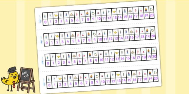 Aladdin Number Track 0 20 - aladdin, numbertrack, 0-20, visual