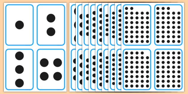 Count the Spots Flashcards 1-40 - count the spots, flashcards, flash cards, count, spots