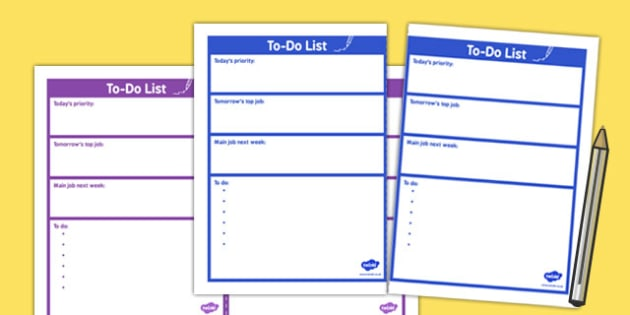 A 'To Do' List for Teachers and Staff - to do list, teachers, staff