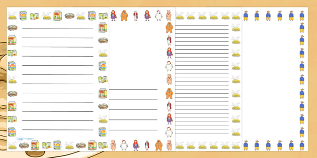 Page Borders to Support Teaching on Mr Wolf's Pancakes - mr Wolf's pancakes, borders