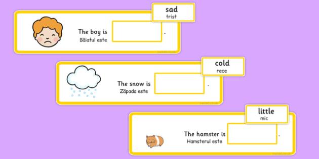 Fill In The Adjective Basic Concept Sentences Romanian Translation - romanian, adjectives, SEN