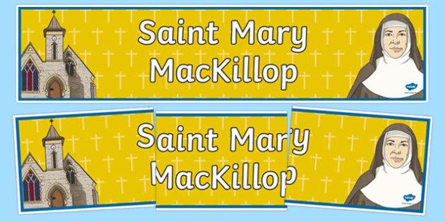 Saint Mary MacKillop Display Banner-Australia