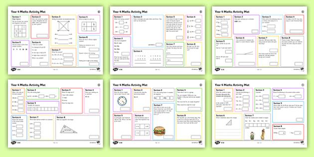 Year 4 Summer 2 Maths Activity Mats
