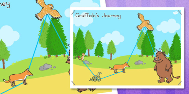 The Gruffalo's Journey Map - australia, gruffalo, journey, map