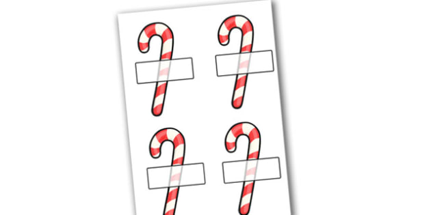 Christmas Editable Self Registration Candy Canes - christmas, xmas, self registration, self-registration, editable, editable labels, editable self registration labels, candy canes, candy cane label, label with a candy cane, labels, registration, chil