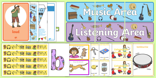 EYFS Music and Listening Area Classroom Set Up Pack - classroom, set up