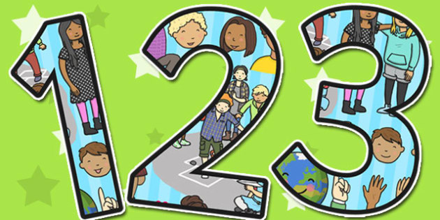 PSHE Themed A4 Display Numbers - PSHE, Display, Numbers, Themed