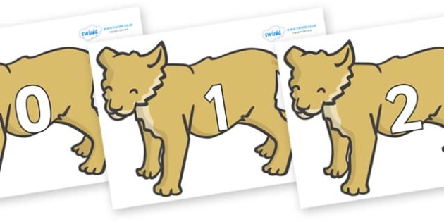 Numbers 0-50 on Puppy - 0-50, foundation stage numeracy, Number recognition, Number flashcards, counting, number frieze, Display numbers, number posters