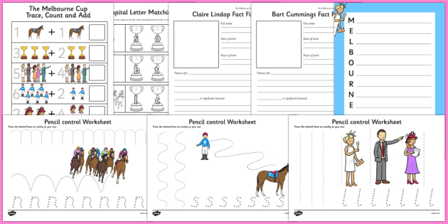 The Melbourne Cup Writing Pack - australia, the melbourne cup, writing, pack
