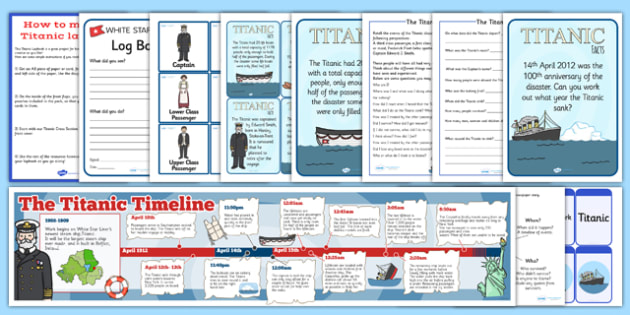 The Titanic Lapbook Creation Pack - lapbook pack, titanic, create