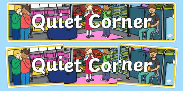 Quiet Corner Display Banner - quiet, corner, quiet corner, display, banner, display banner, themed banner, themed header, headers, display header