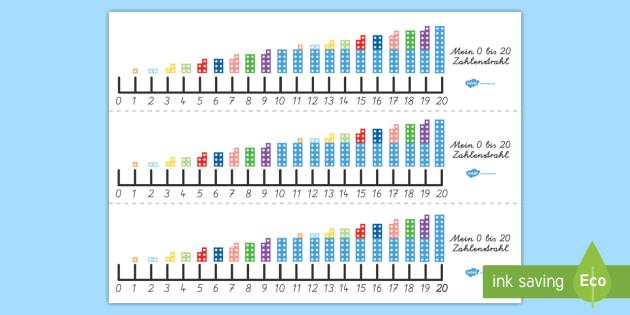 Mein 0-20 Zahlenstrahl - zählen, vorwärts, rückwärts, addieren, subtrahieren, Mathematik,German