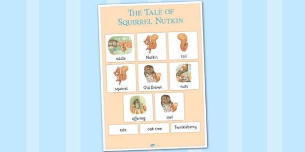 The Tale of Squirrel Nutkin Vocabulary Poster - squirrel nutkin